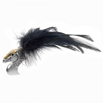 Armour & Feather Horse Ring