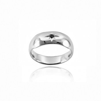 Star set Sapphire Ring